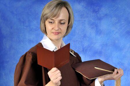 academia: Graduate with diploma