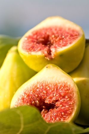 detailed shot: Nicely detailed shot of fig   Stock Photo
