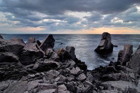 mistic: rocks in the Black Sea coast