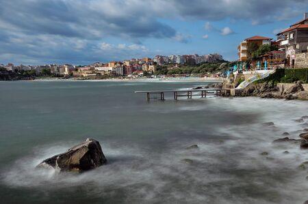 Sozopol coastline at Black Sea in Bulgaria Stock Photo