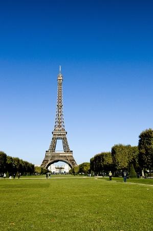 Eiffeltoren, het symbool van Parijs Stockfoto