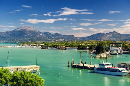 Peschiera on Garda Lake in Italy 免版税图像