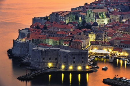 view of an old city of Dubrovnik, Croatia Editorial
