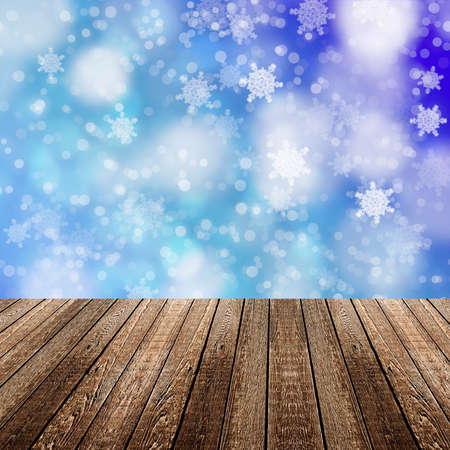 christmass: christmass background with wood floor