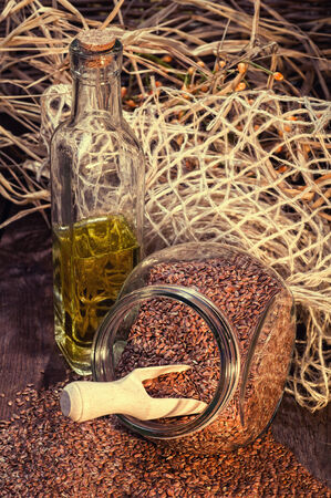 linseed: Linseed oil, a healthy diet