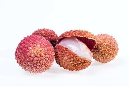 litschi: lychee isolated on white background