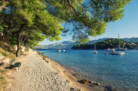Cavtat adriatic sea in Croatia Stock Photo