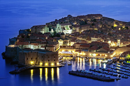view of an old city of Dubrovnik, Croatia Stock Photo