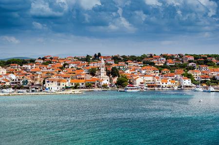 Pakostane in Croatia, adriatic sea 免版税图像