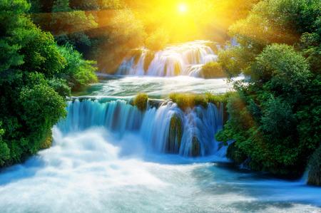 Cascades de Krka, le parc national, la Dalmatie, Croatie