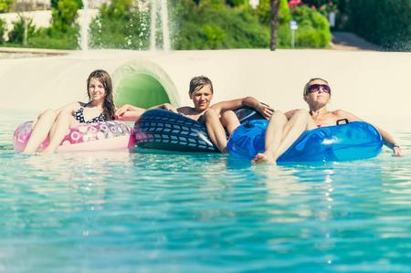 summer fun at the aquapark 免版税图像