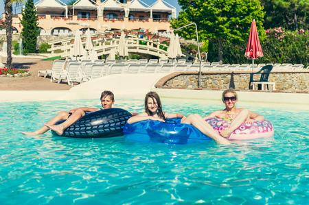 summer fun at the aquapark Stock Photo