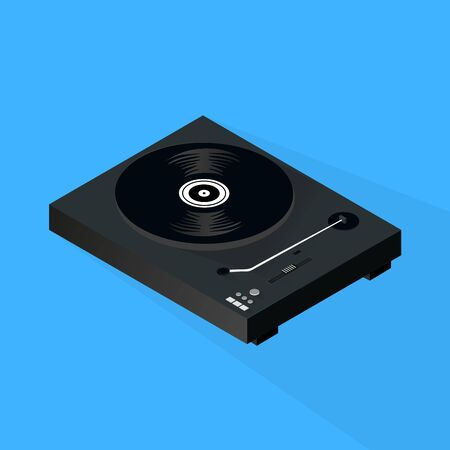 3d isometric Turntable Background, Vector, Illustration, Backdrop Illustration