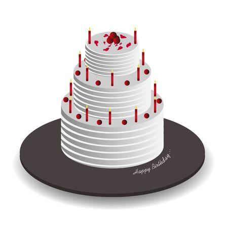 celebration: Isometric Celebration Cake, Illustration