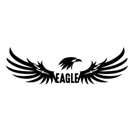Black Eagle Logo Abstract Eagle, Vector, Illustration