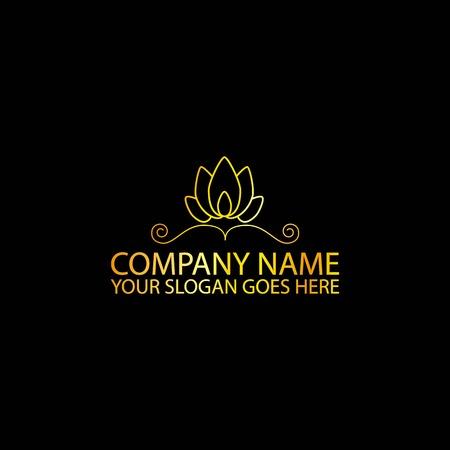 Simple Golden Logo Type, Vector, Illustration
