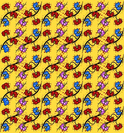 orbital: Seamless Abstract Floral Pattern, Vector, Illustration, EPS