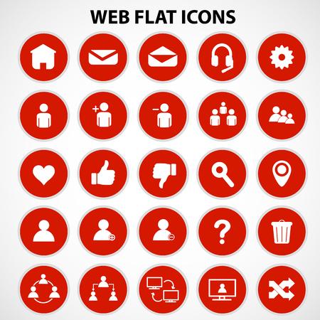 rejected: Social network icons set on white background, Vector, Illustration, EPS8. Illustration