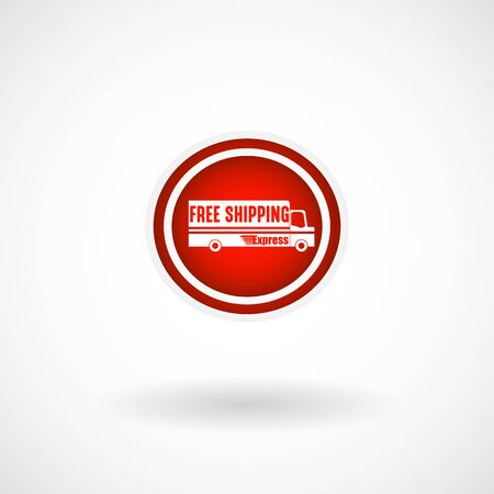 Simple Free Shipping Icon, Vector, Illustration,