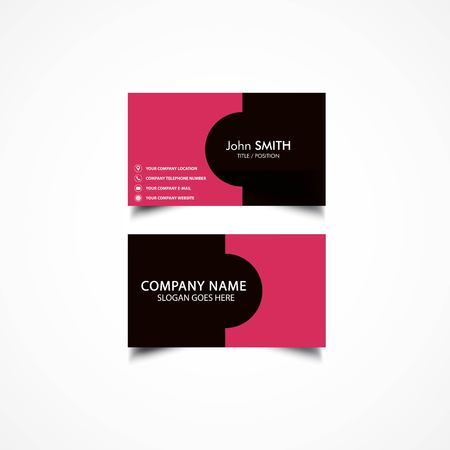 rejected: Simple Business Card Template, Vector Illustration