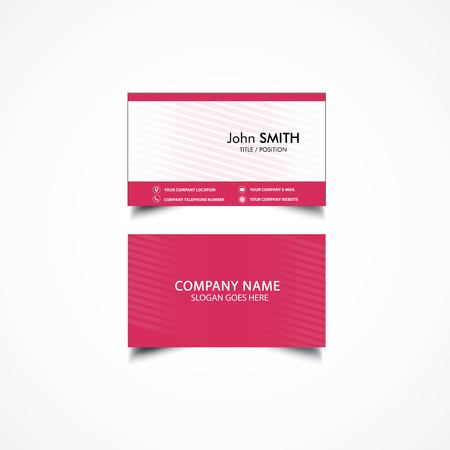 Simple Business Card Template, Vector, Illustration
