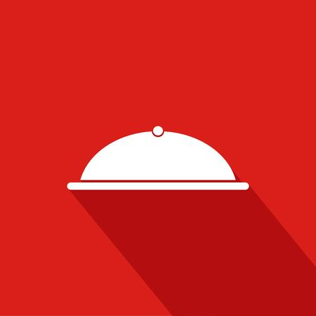 Cook Flat Icon With Red Background, Vector, Illustration