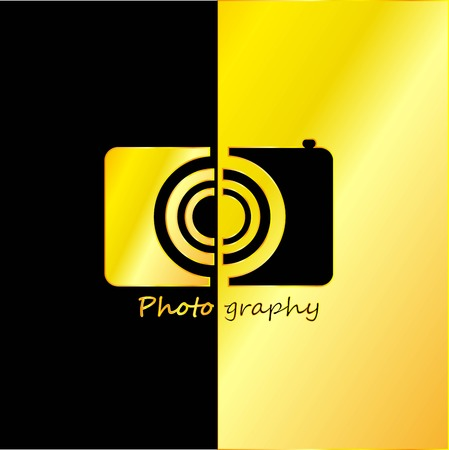 photography backdrop: Photographer Abstract with Black and Gold Background, Vector, Illustration