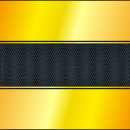 Golden Stripe with Black Background, Vector, Illustration