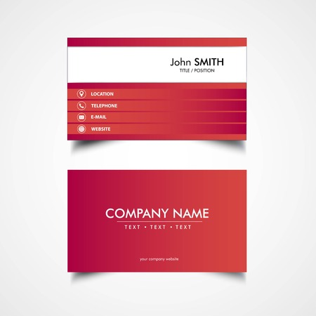 Simple Business Card Template, Vector, Illustration, Eps File