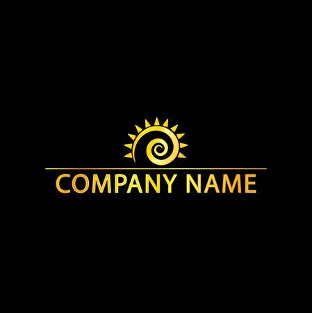 Logo With Golden Sun Effect.