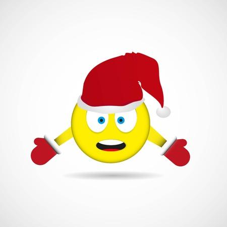 Holiday emoji character vector design.