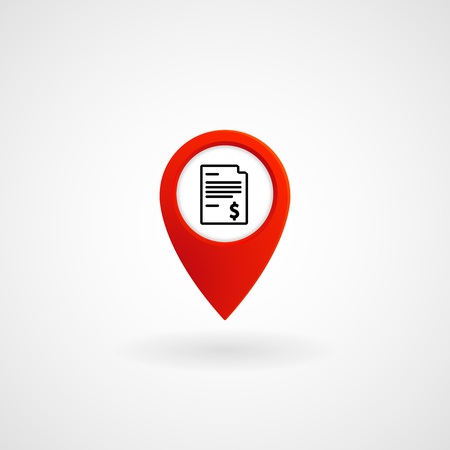 Red Location Icon for Bill Payment Center, Vector, Illustration, Eps File Illustration