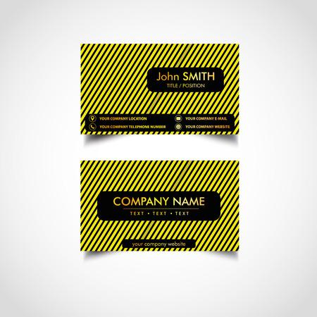 Golden business card templates design, vector illustration. Illustration