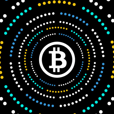 Bitcoin Crypto Currency Background, Vector Illustration.