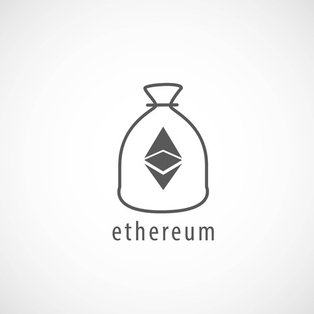Ethereum Bag Icon, Vector, Illustration