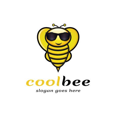 Cool Bee Logo, Vector, Illustration, Eps File