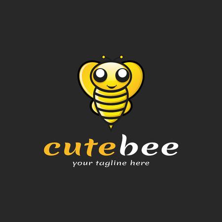 Cute Bee Logo, Vector, Illustration, Eps File