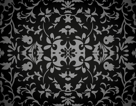 Abstract damask background, vector, illustration
