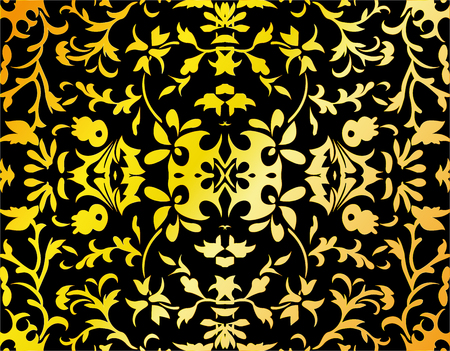 Abstract damask background, vector, illustration Illustration