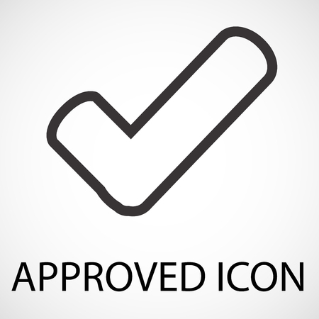 Simple approved line art icon, vector, illustration