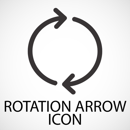 Simple rotation arrow line art icon, vector, illustration