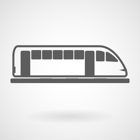 Tram icon on white background, vector, illustration, eps file