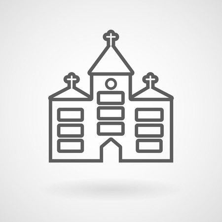 Church icon on white background, vector, illustration, eps file 일러스트