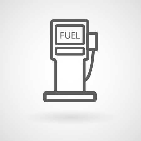 Fuel station icon on white background, vector, illustration, eps file