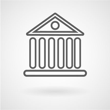 Bank building icon, vector, illustration, eps file