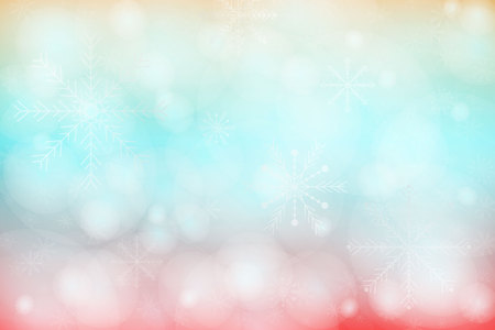 Merry christmas colorful background with snowflake, vector, illustration, eps file