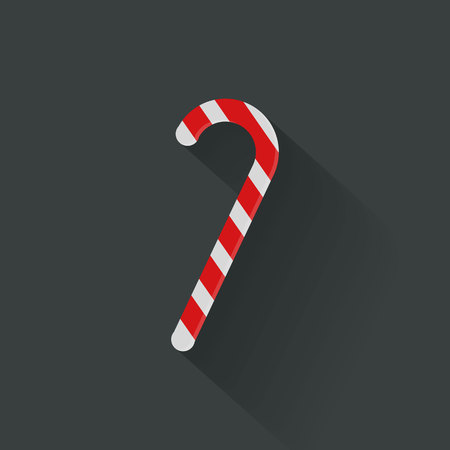 Christmas candy cane flat icon, vector, illustration, eps file Stock Illustratie