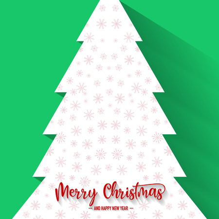 Christmas tree with green background, vector, illustration, eps file Stock Illustratie