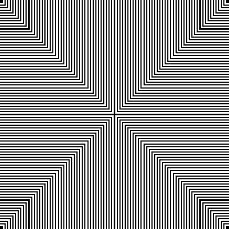 Fond d'illusion hypnotique noir et blanc, vecteur, illustration, fichier eps