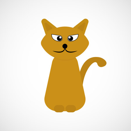 Orange cartoon cat, vector, illustration, eps file